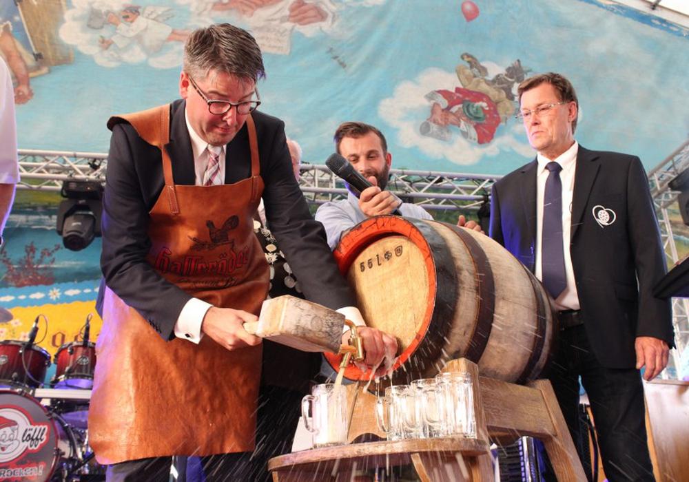 Der Oberbürgermeister der Stadt Goslar, Oliver Junk, wird auch in diesem Jahr wieder den traditionellen Fassanstich vornehmen. Archivfoto: Anke Donner