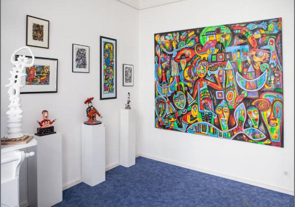 Ausstellende Künstler der Kunstausstellung Artgeschoss in der Braunschweiger WelfenAkademie geben einen Einblick in ihre Werke. Am Samstag, 21. Mai, lädt die Kunstausstellung zum Künstlergespräch ein. Foto: Werkschauraum