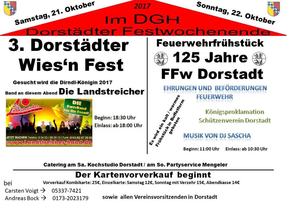 Am Wochenende soll in Dorstadt ordentlich gefeiert werden. Foto: Peter Matzuga