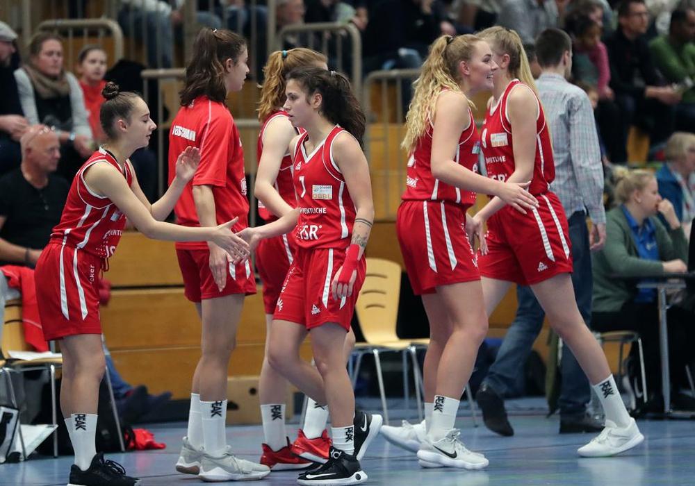 Alle Wolfpack-Spielerinnen trugen zum fünften Saisonsieg bei. Foto: Agentur Hübner