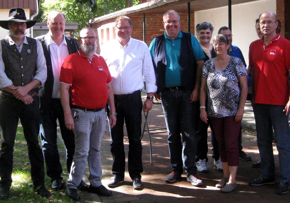 Die Mitglieder des SPD-Ortsvereins auf dem diesjährigen Familienfest. Foto: SPD