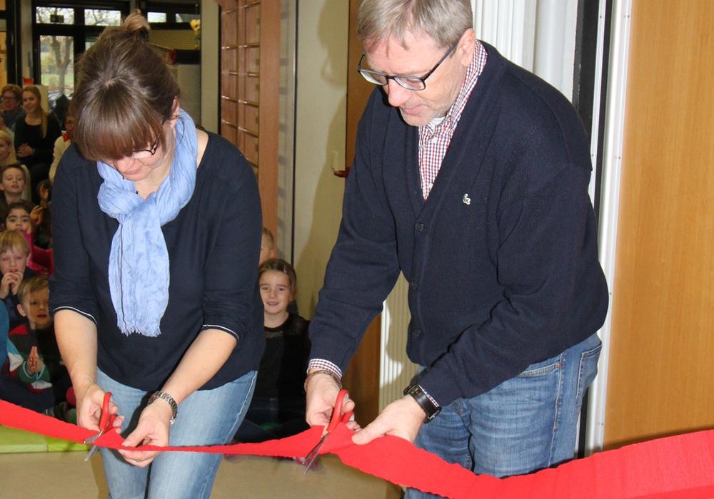 Bücherei in der Kita Geibelstraße eröffnet. Foto:  Stadt Wolfenbüttel