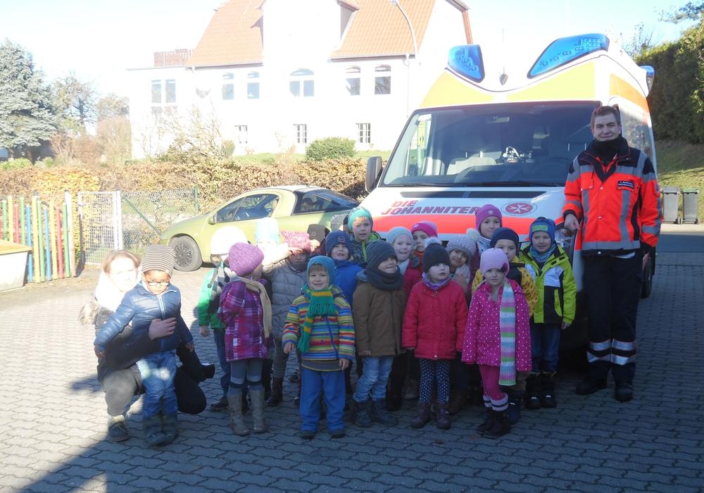 Die Johanniter besuchten die Kinder in der Kita Erkerode. Foto: privat