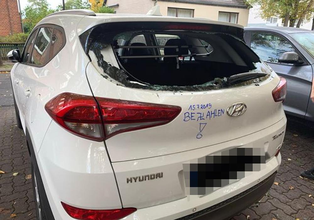 Die Signatur sei typisch für den Täter, laut Polizei müsse man sich aber keine Sorgen machen - der Täter sei bereits gefasst. Foto: Privat