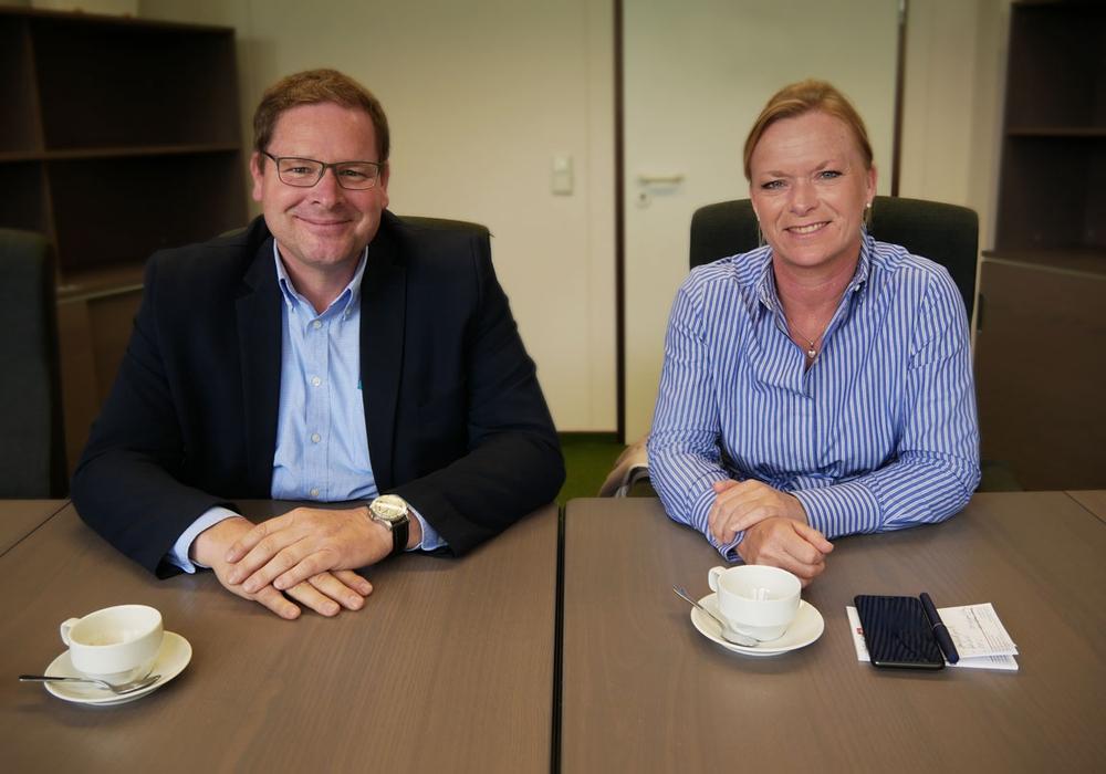 Marcus Bosse und Dunja Kreiser zu Besuch in der Redaktion. Foto: Alexander Panknin