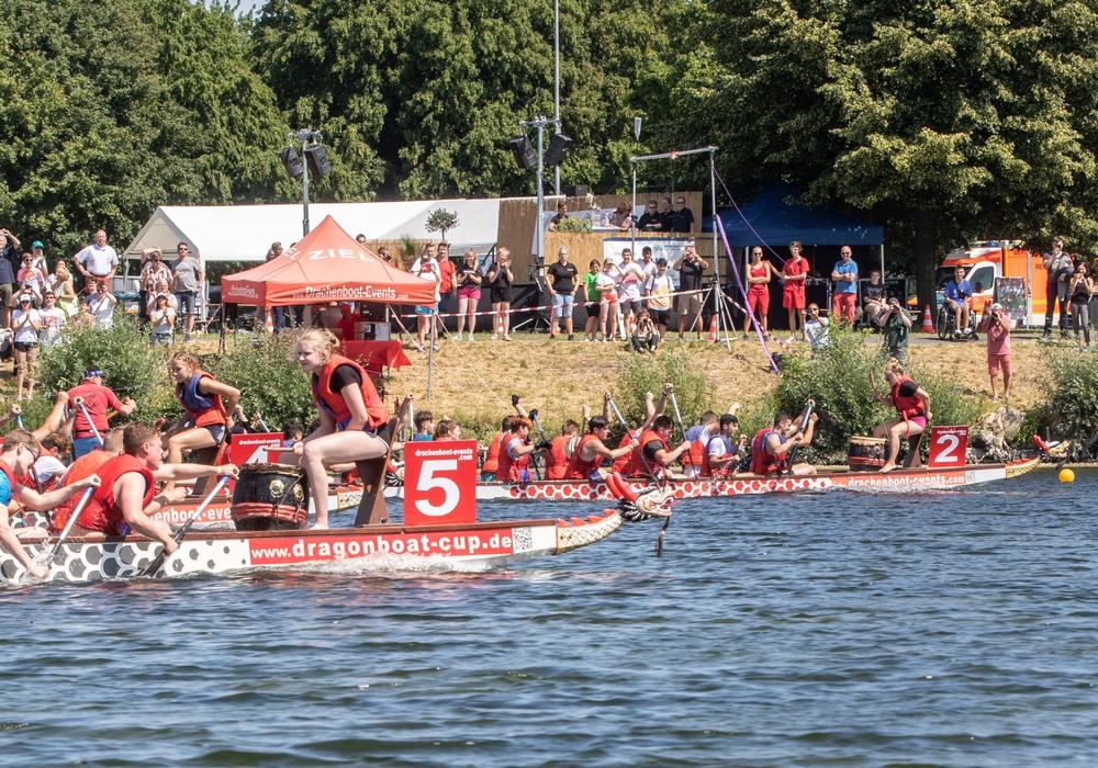 Die Schüler lieferten sich spannende Wettrennen. Foto: Rudolf Karliczek