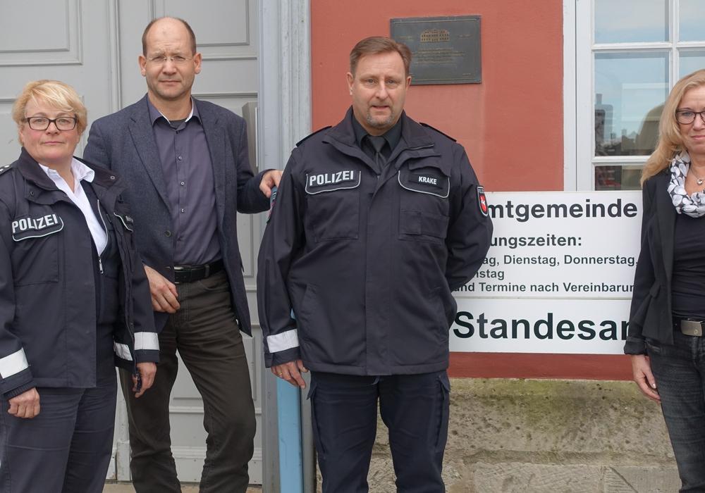 Von links: Insa Reinecke-Buß, Michael Waßmann, Thomas Krake und Petra Eickmann-Riedel. Foto: Privat