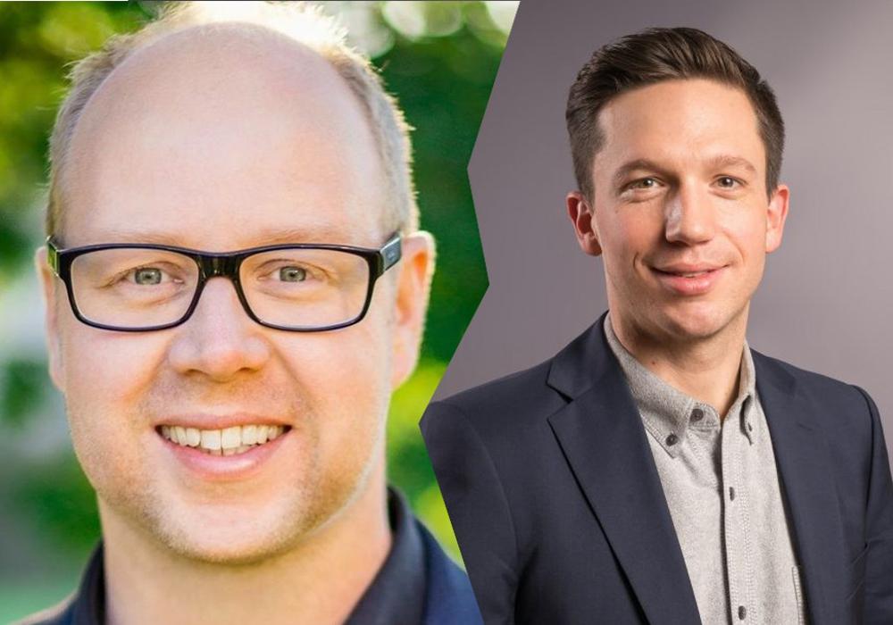 """""""Eine gute Sache."""", sind sich die Abgeordneten Jörn Domeier und Falko Mohrs einig. Foto Jörn DOmeier:  Sebastian Petersen / philigran-studio.de; Foto Mohrs: SPD"""
