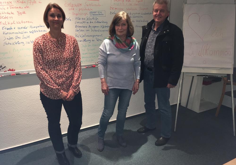 Von links: Simone Wieczorek, Heike Kanter und Günter Eichenlaub. Foto: Andreas Glier