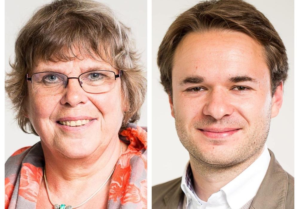 Dr. Elke Flake und Helge Böttcher. Fotos: Bündnis 90/Die Grünen