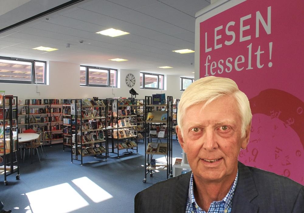 Rudolf Ordon (FDP) hinterfragte im Kulturausschuss die parallele Existenz von Stadt- und Kreisbücherei. Fotomontage: Werner Heise / Anke Donner