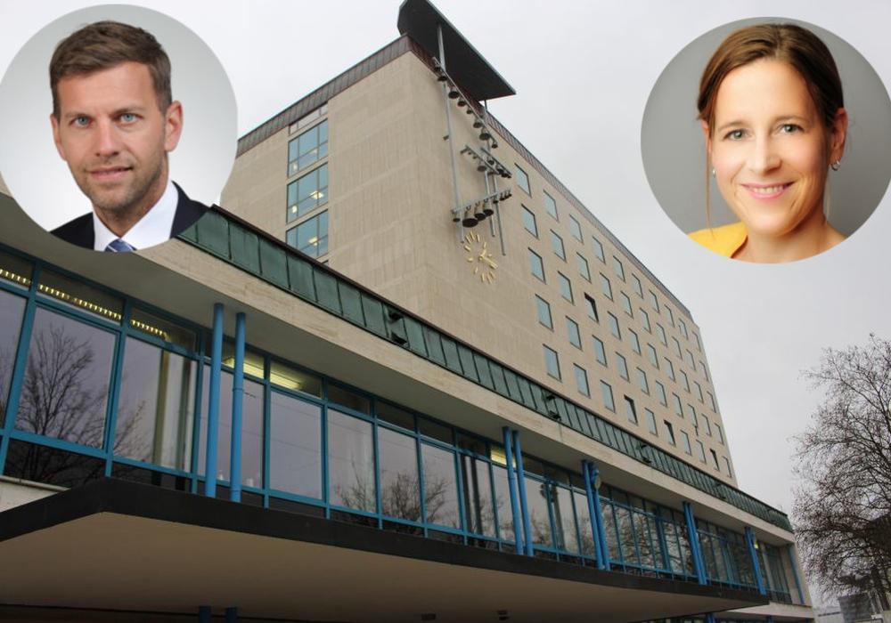 Dennis Weilmann und Monika Müller sollen neue Dezernenten werden. Foto: Magdalena Sydow/Stadt Wolfsburg