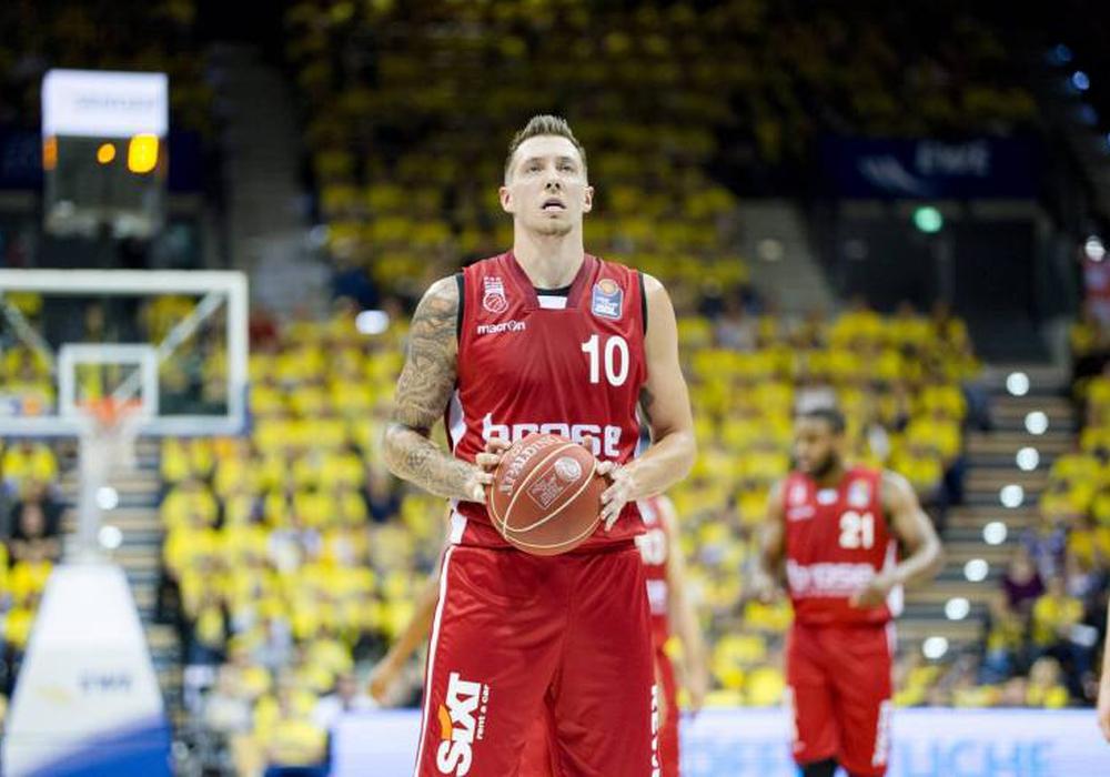 Theis, hier noch im Bamberger Trikot, setzt persönliche Bestmarke in der NBA. Foto: Reinelt/Eibner/Pressefoto