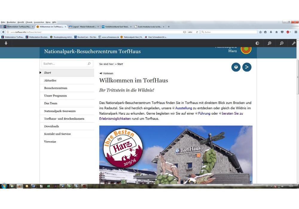 Homepage im neuen Gewand. Foto: Nationalpark-Besucherzentrum TorfHaus