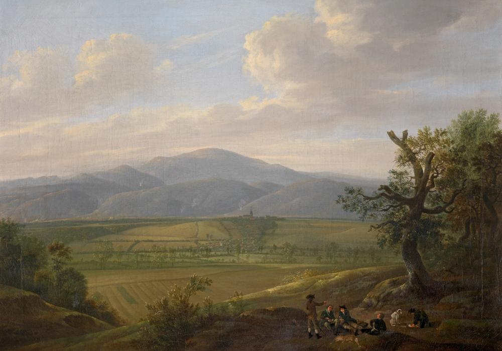 Pascha Johann Friedrich Weitsch (1723–1803), Brockenpanorama, vom Kleinen Fallstein aus gesehen, um 1775. Foto: C. Cordes, Herzog Anton Ulrich-Museum