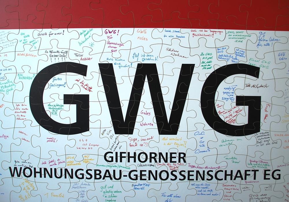 Das Riesenpuzzle. Foto: GWG