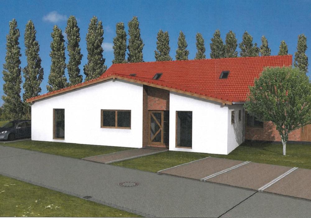 Die Gesamtkosten für die Erweiterung der Kita liegen bei rund 240.000 Euro. Grafik: Bauplan Müller / Grafhorst