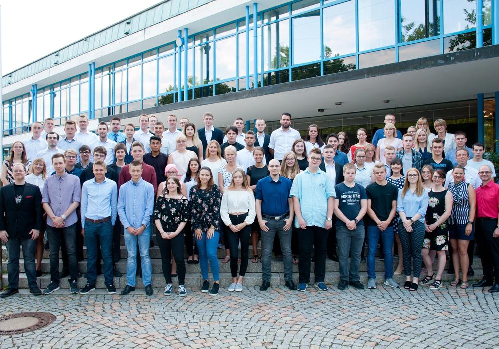 Die neuen Auszubildenden wurden am Mittwoch begrüßt. Foto: Stadt Wolfsburg