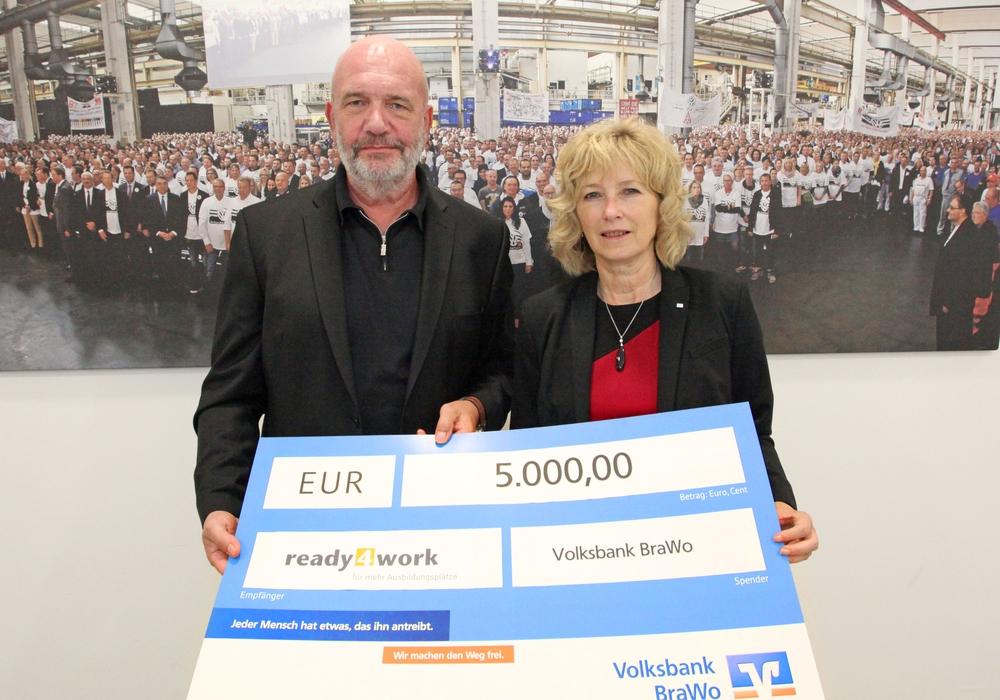 Bernd Osterloh und Claudia Kayser. Foto: Förderverein ready4work e. V.