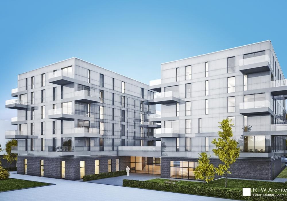 Hellwinkel Terrassen, Wohnzwilling. Entwurf: RTW Architekten, Hannover.