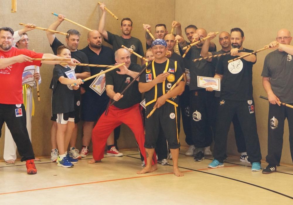 Etwa zwanzig begeisterte Sportler kamen zum Seminar. Foto: Martial Arts Group e.V. Wolfenbüttel