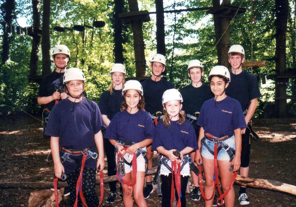 Für die Jugendfeuerwehr Heiningen ging es in den Kletterpark nach Thale. Foto: Feuerwehr Heiningen