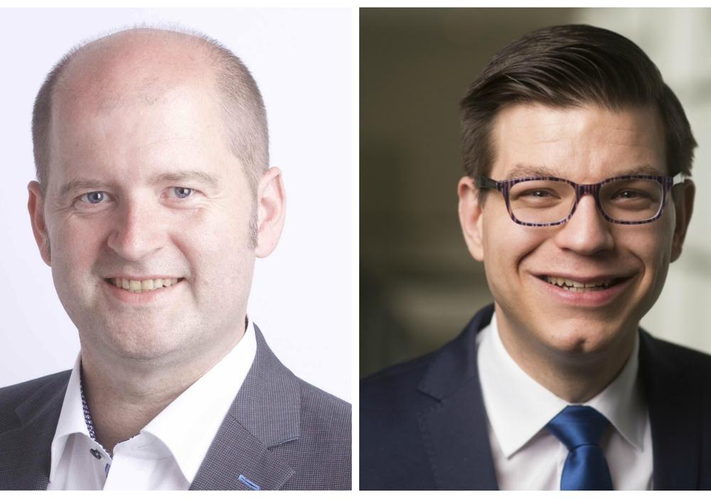 Ingo Schramm (links) und Björn Försterling äußern sich zum ZGB. Foto: Peter Sierigk / Nigel Treblin