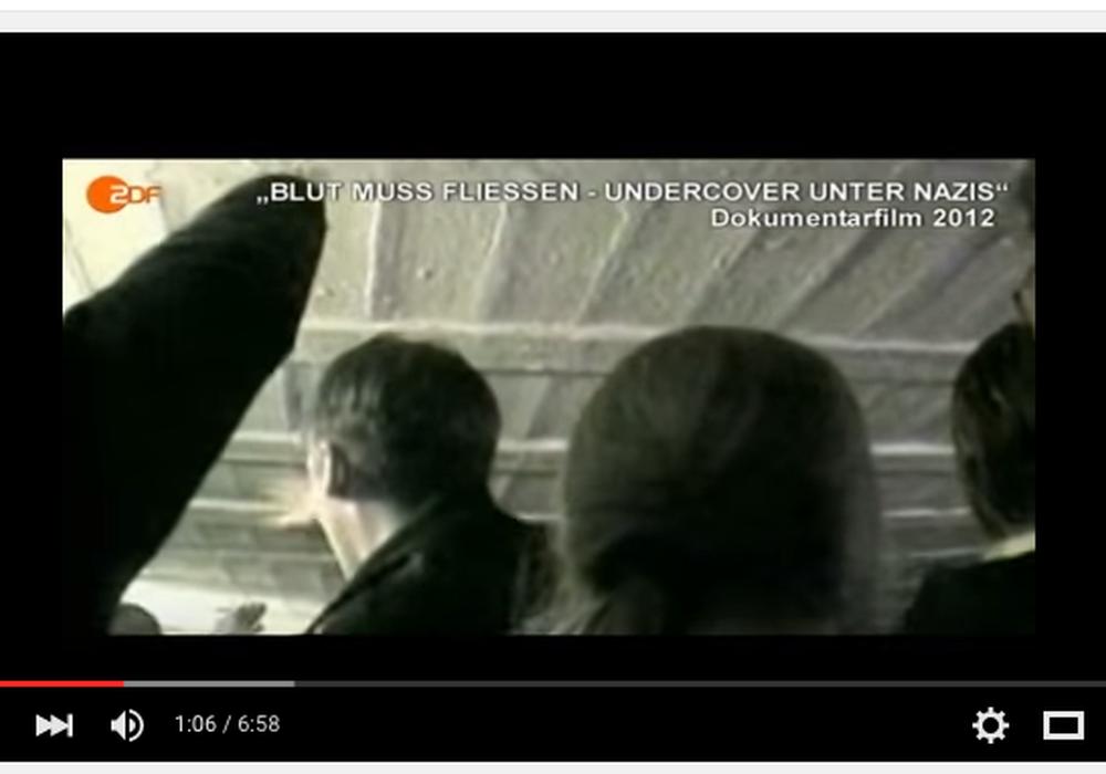 """Blut muss fließen - Undercover in der rechten Musikszene"""" (ZDF Aspekte, 18.02.2012). Screenshot: Sina Rühland"""