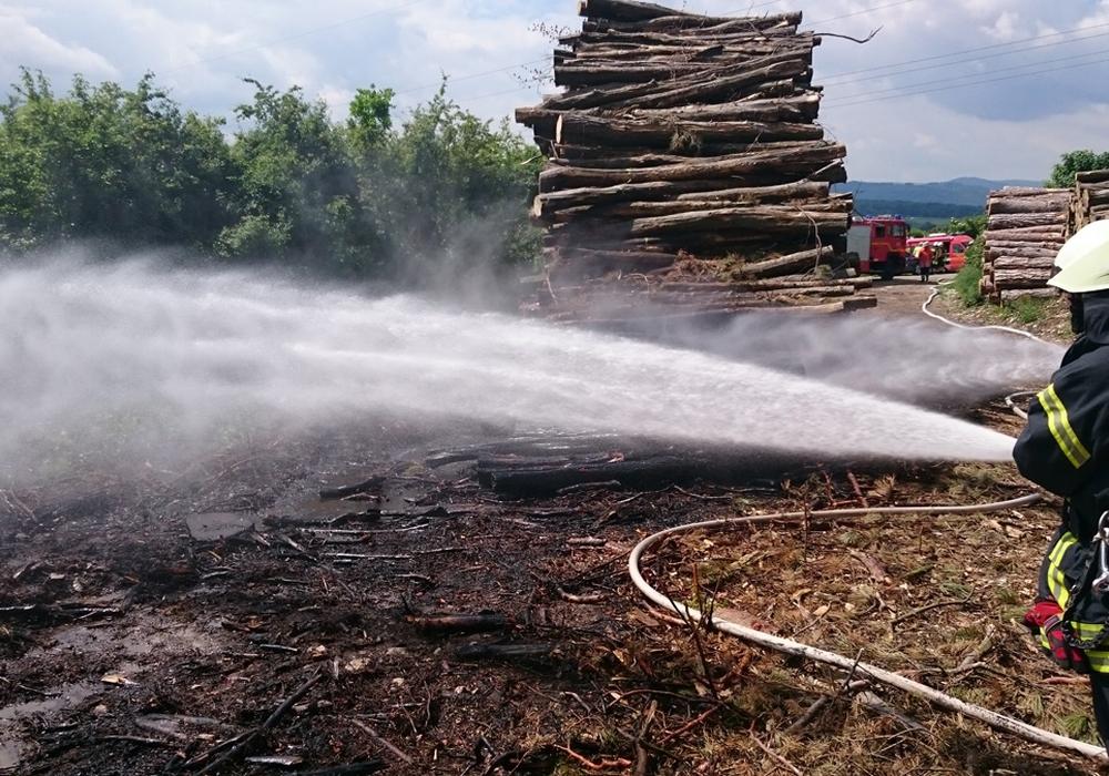 Es wurde viel Wasser benötigt um den Flächenbrand zu Löschen. Foto: Feuerwehr