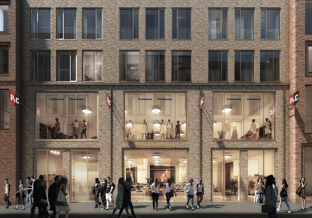 So könnte die neue Ladenfläche von Peek & Cloppenburg künftig aussehen. Visualisierung: Development Partner