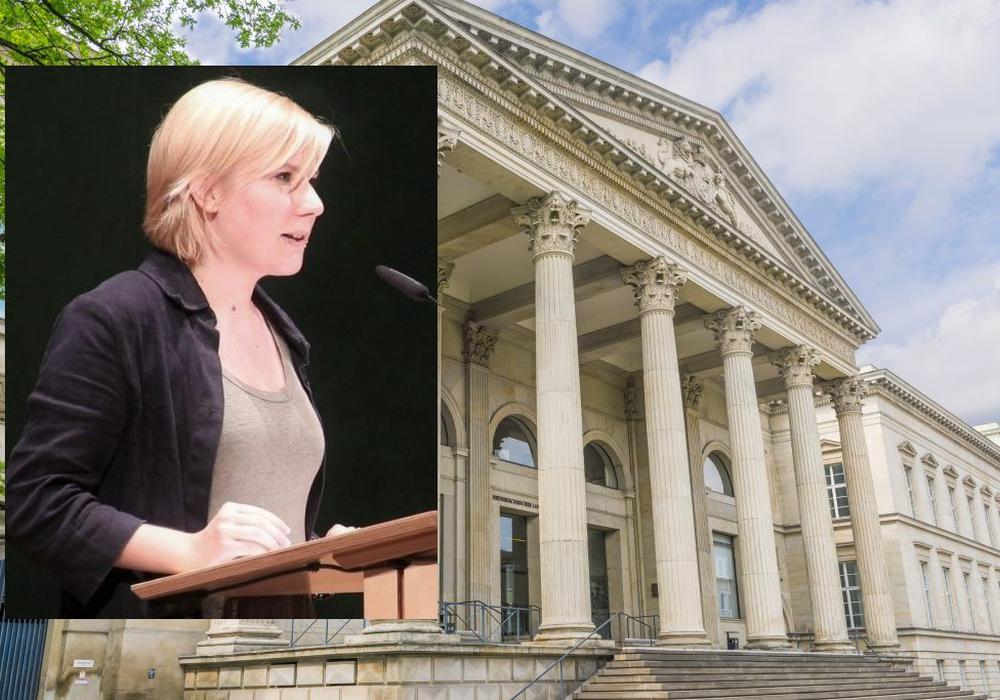 Als jüngste Abgeordnete durfte Imke Byl im Präsidium sitzen. Foto: Tom Figiel/Grünen