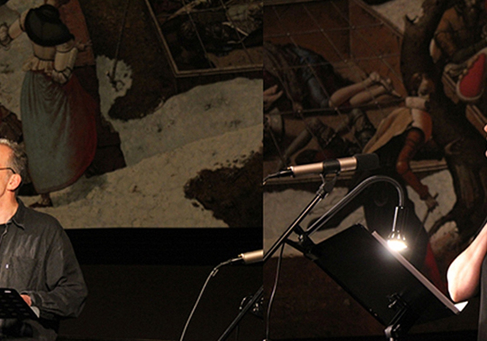 """Szenische Lesung """"Ottilie Müntzer – der Regenbogen endet nicht"""" mit Daniel Minetti und Vicki Spindler  Foto: Stadt Braunschweig/Grit Pommer, Thüringer Allgemeine"""