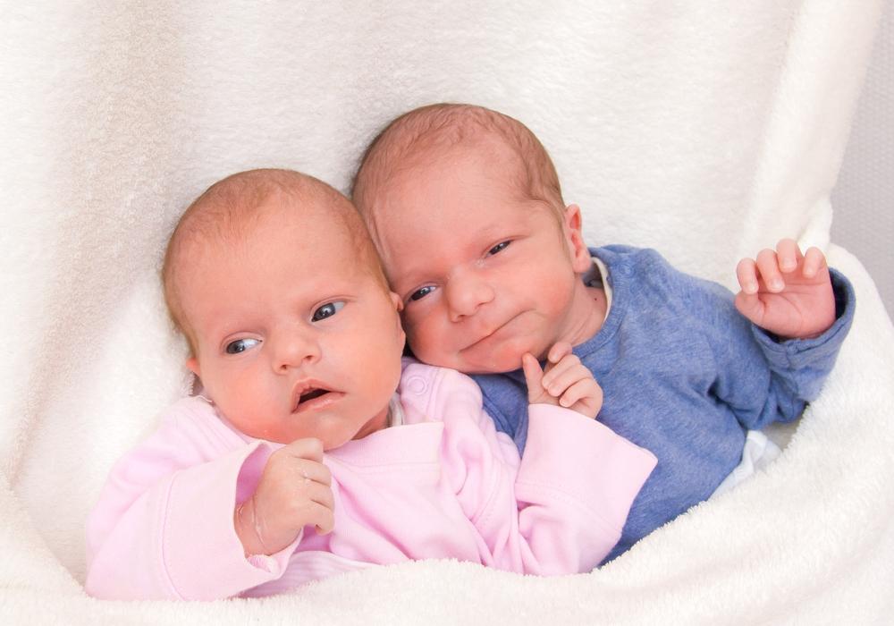 Willkommen, Len und Nele Loges. Foto: Karen Sierigk, Städtisches Klinikum