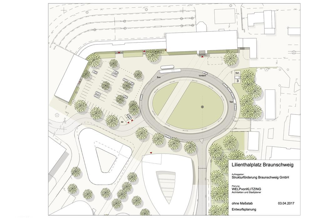 Im Zentrum der Planung steht ein begrüntes Oval. Foto: Stadt Braunschweig