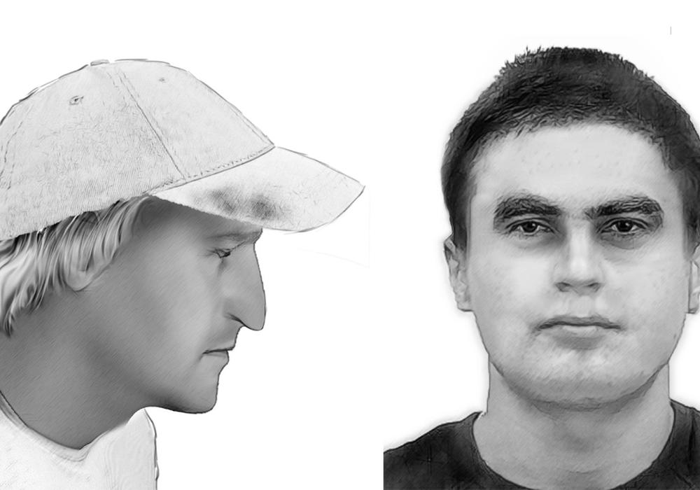 Die Polizei sucht mit Phantombildern nach zwei Einbrechern. Foto: Polizei Braunschweig