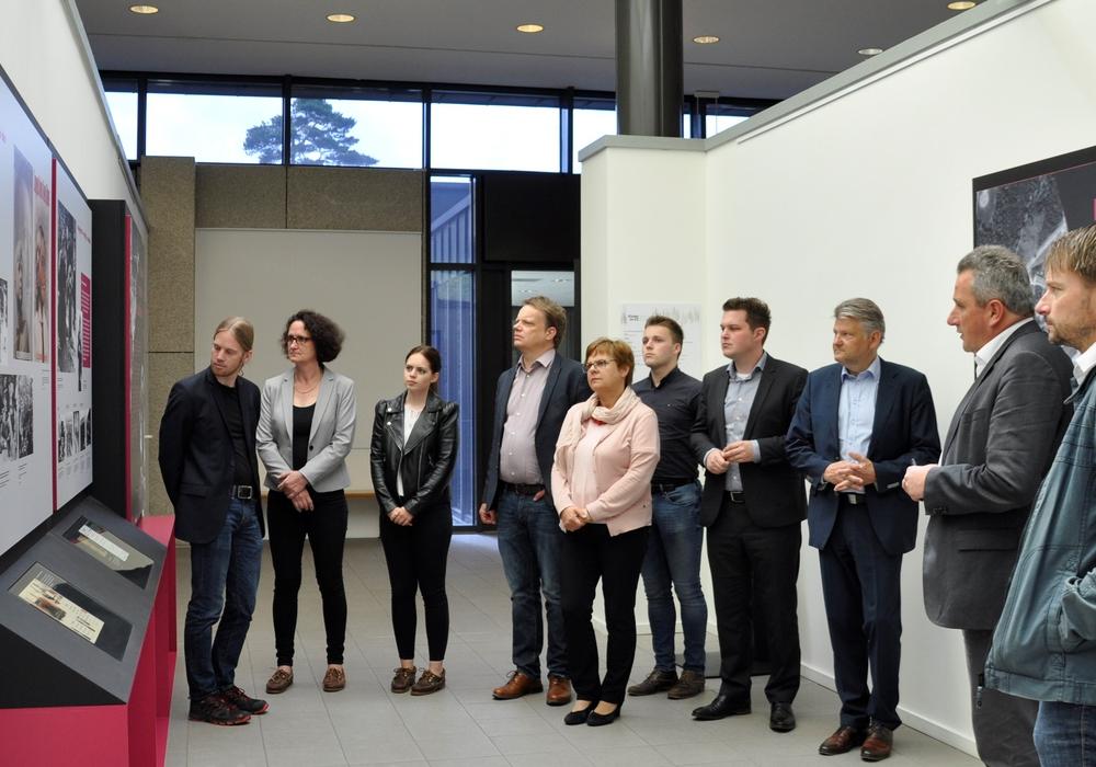 SPD Landespolitiker des Arbeitskreises Kultus besuchten die Gedenkstätte. Foto: Wahlkreisbüro Christoph Bratmann