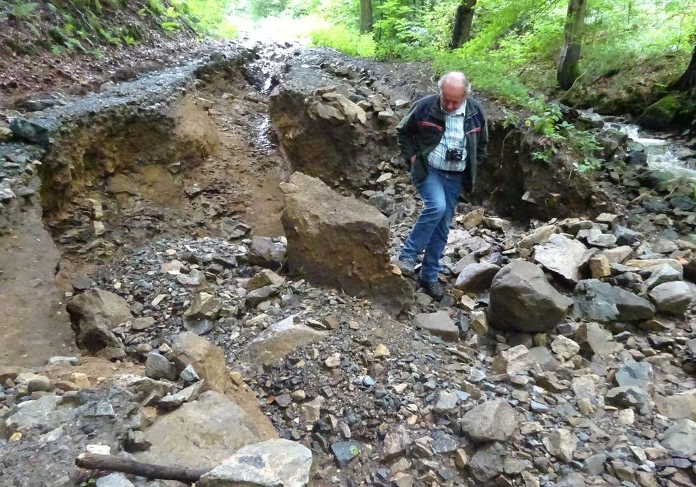 Im Hasselbachtal sind die Schäden deutlich sichtbar. Fotos: Sabine Bauling