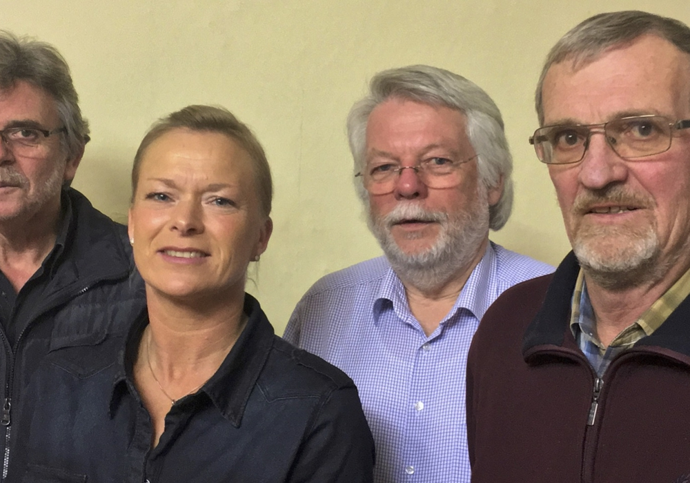 Reiner Deitmar, Dunja Kreiser, Dr. Heinrich Füchtjohan, Werner Kuby (von links). Foto: privat