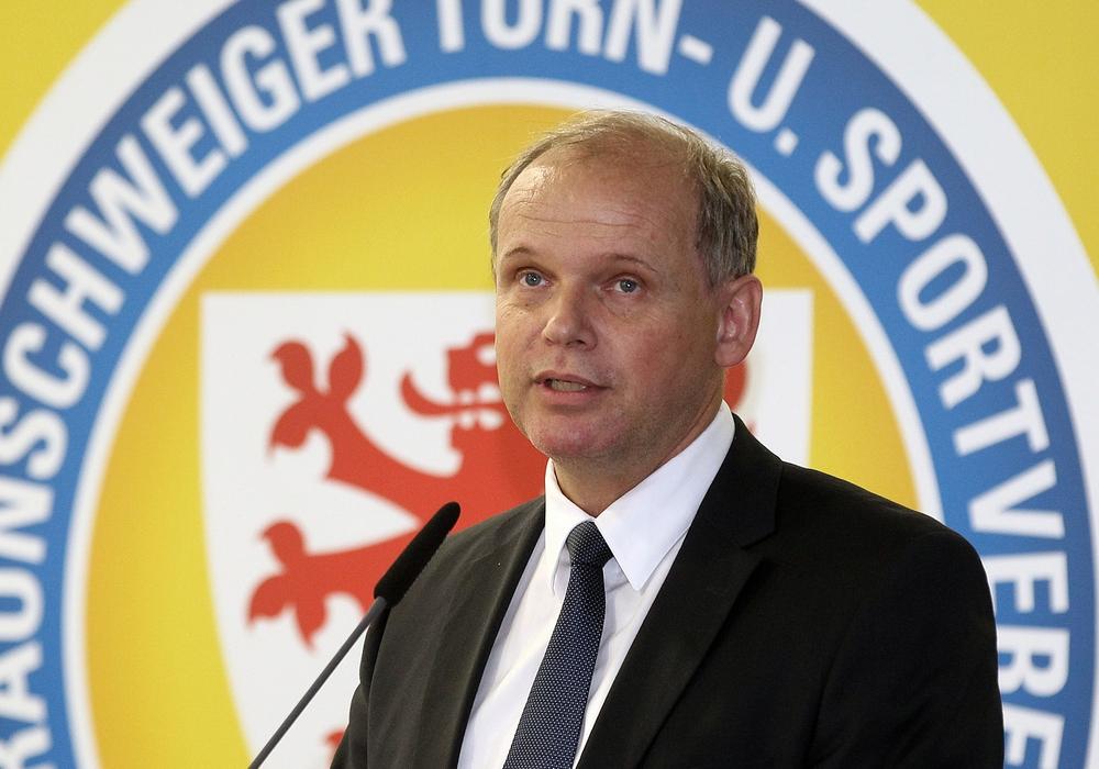 Präsident Sebastian Ebel dementierte am Montagabend und stärkte Voigt den Rücken. Foto: Agentur Hübner