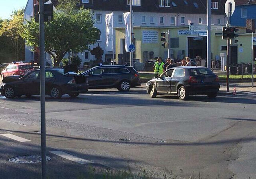 Auf der Leipziger Straße hat es gestern gekracht. Foto: privat