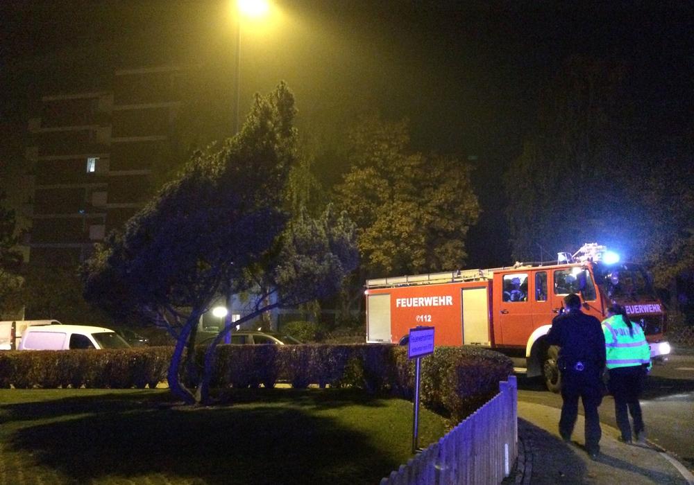 Auf der Suche nach dem vermeintlichen Feuer mussten sowohl die Hochhäuser Am Mühlenberge als auch ein Hochhaus Zur Schanze durchsucht werden. Foto: Werner Heise