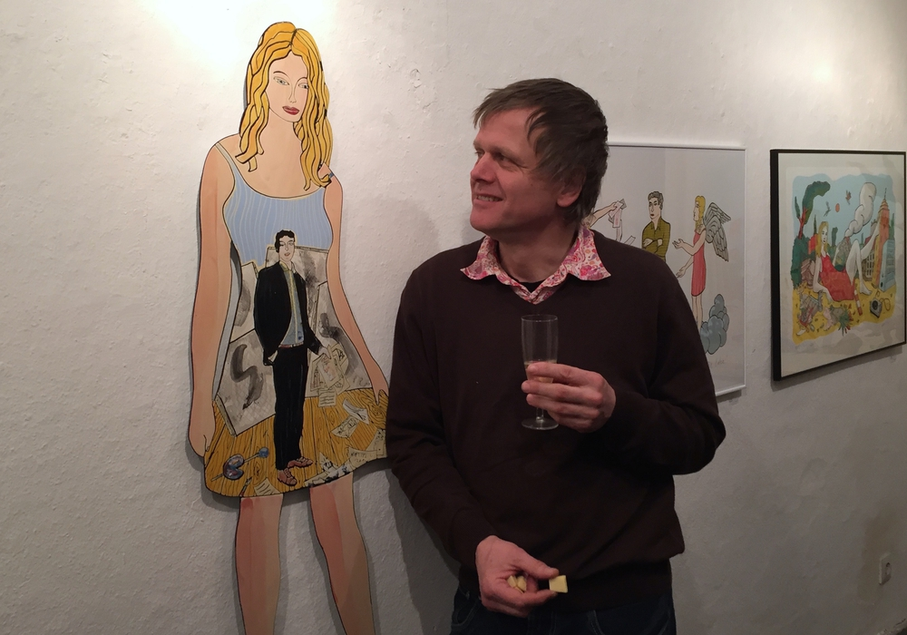Moritz Götze am Freitag zu Gast in der Stubengalerie Goslar. Foto: C. Pein