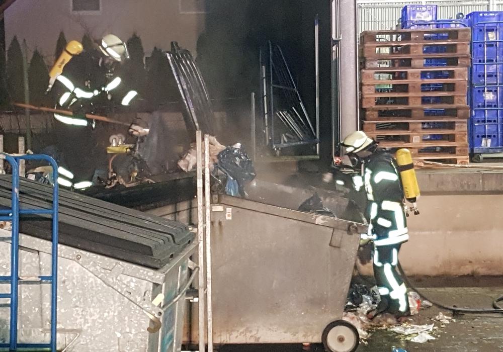 Die Feuerwehr konnte das Feuer schnell löschen. Fotos: Freiwillige Feuerwehr Sickte