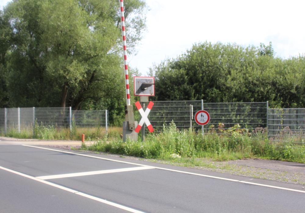 Immer noch endet der Fahrradweg zwischen Rötgesbüttel und Meine am Bahnübergang. Fotos: Sandra Zecchino