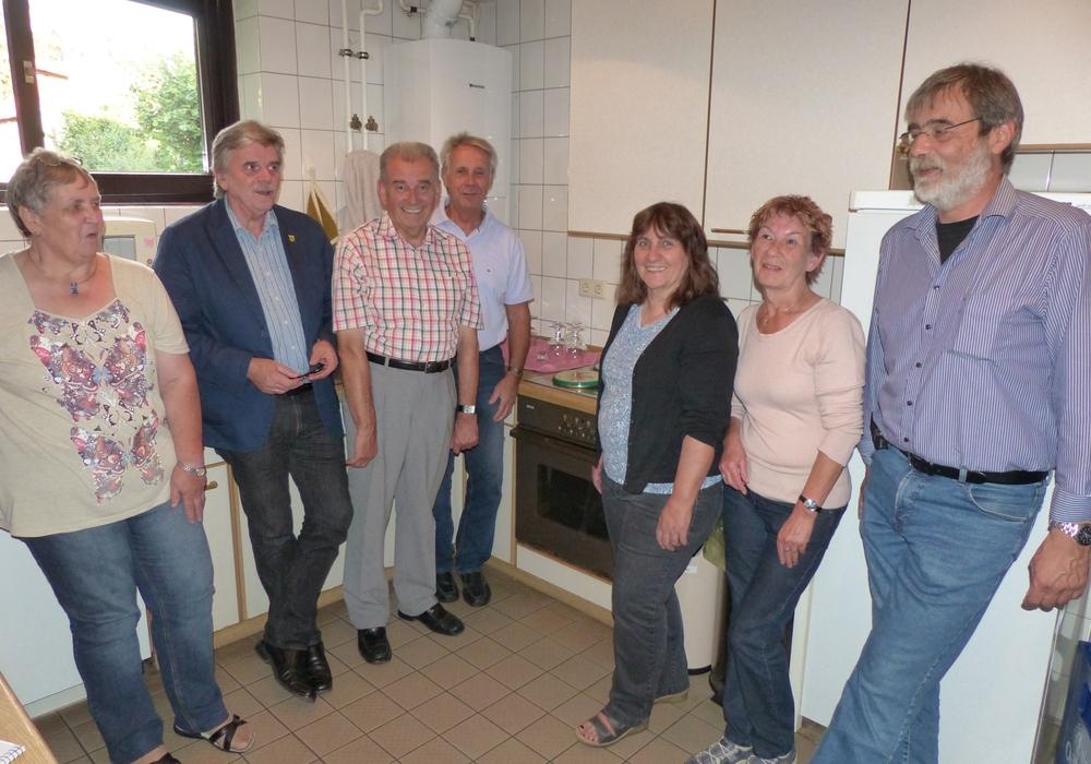 Auf dem Bild sind von links nach rechts zu sehen: Frau Gottfried, Bürgermeister Deitmar, die Ratsherren Arndt und Eickmann, Ratsfrau Böhm, Frau Brecht, Bürgervertreter Mittwollen, Foto: privat
