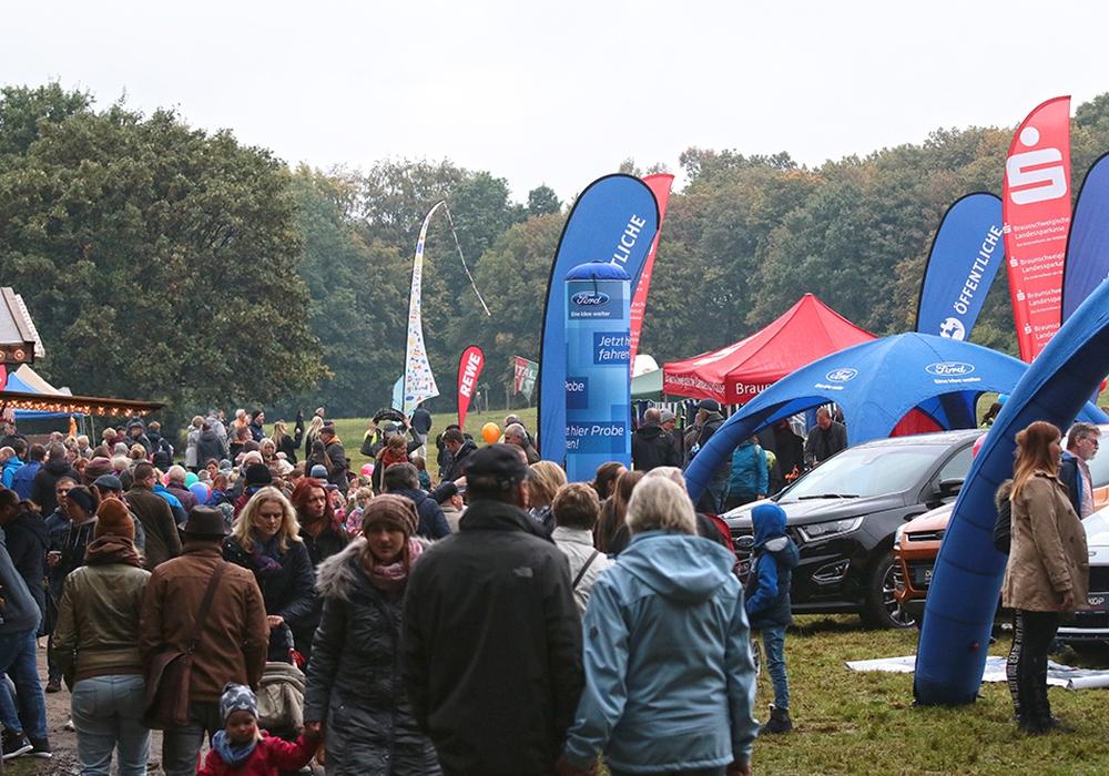 Viele Besucher kamen am Sonntag an den Nussberg zum Drachenfest. Fotos: Frank Vollmer