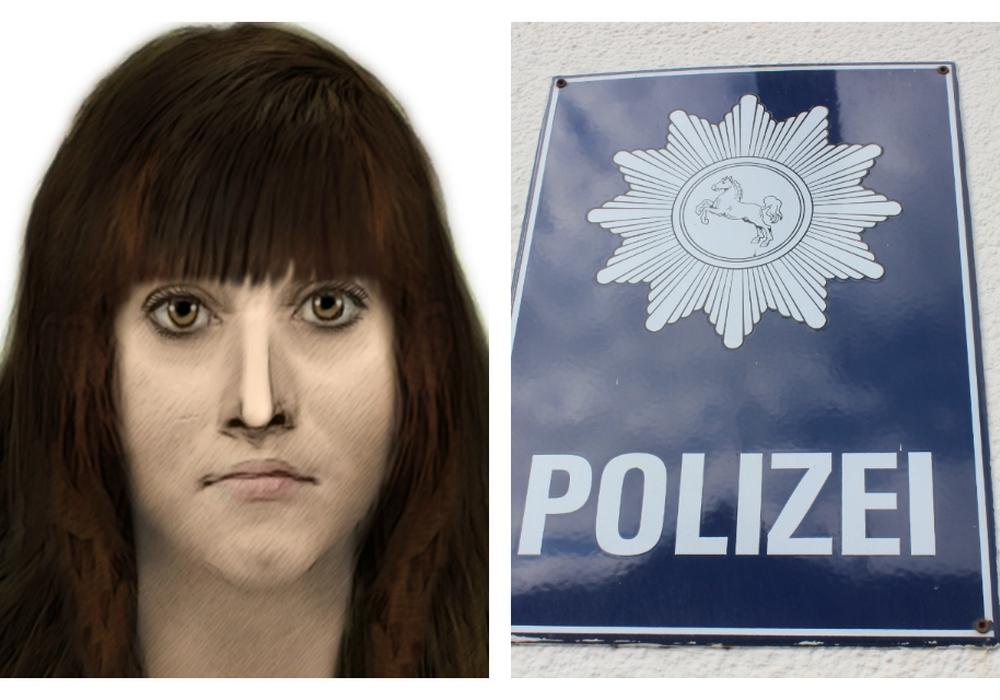 Mit diesem Phantombild sucht die Polizei nach der Handtaschenräuberin. Fotos: Polizei/Anke Donner
