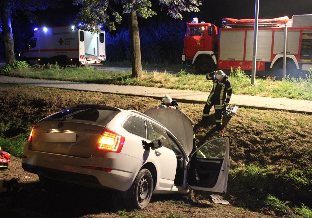 Der Wagen landete im Graben. Foto: Freiwillige Feuerwehr Hohenhameln