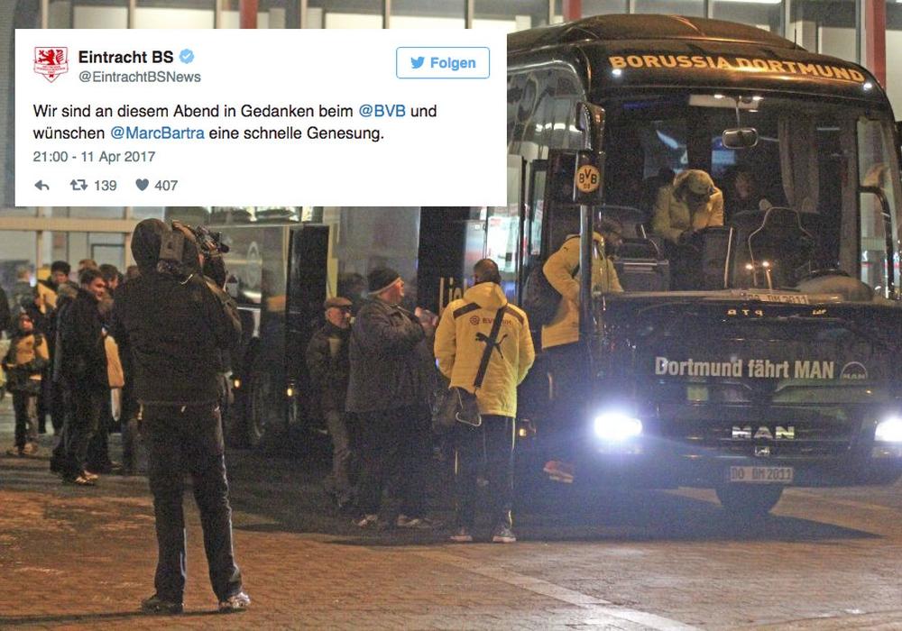 Der Anschlag auf den Mannschaftsbus von Borussia Dortmund sorgte auch in unserer Region für große Anteilnahme. Foto: Frank Vollmer/Archiv