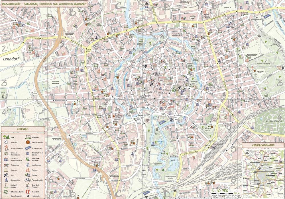 Kinderstadtplan der Stadt Braunschweig, Quelle: Stadt Braunschweig